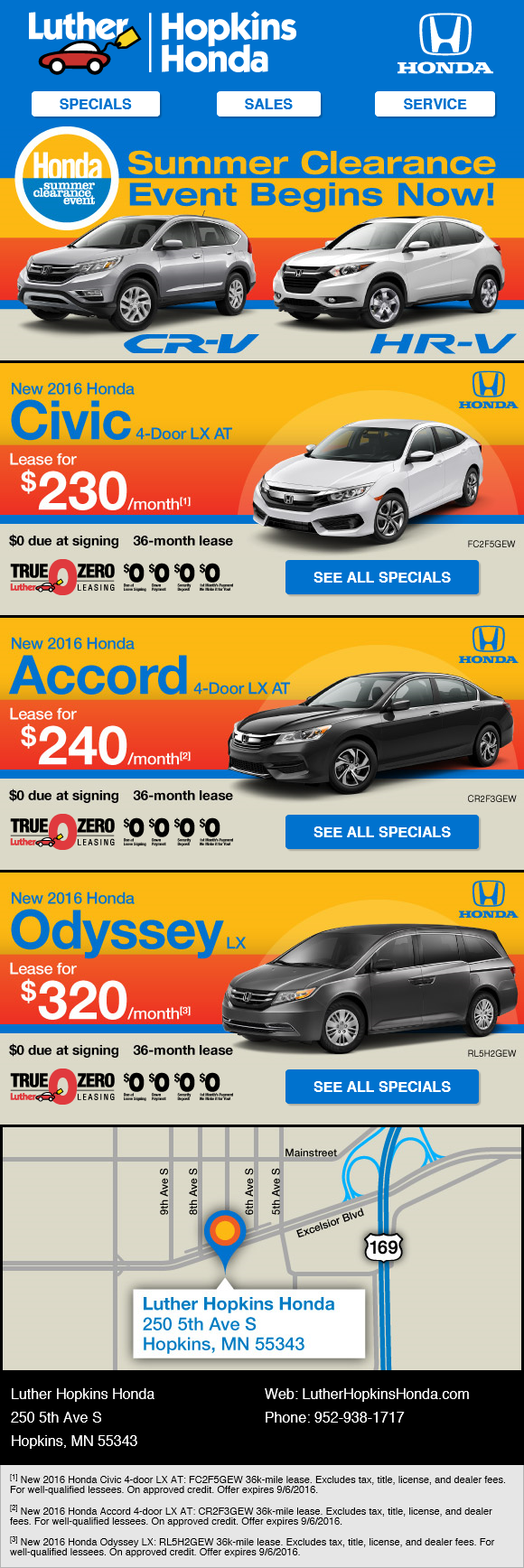 Luther Brookdale Honda Email