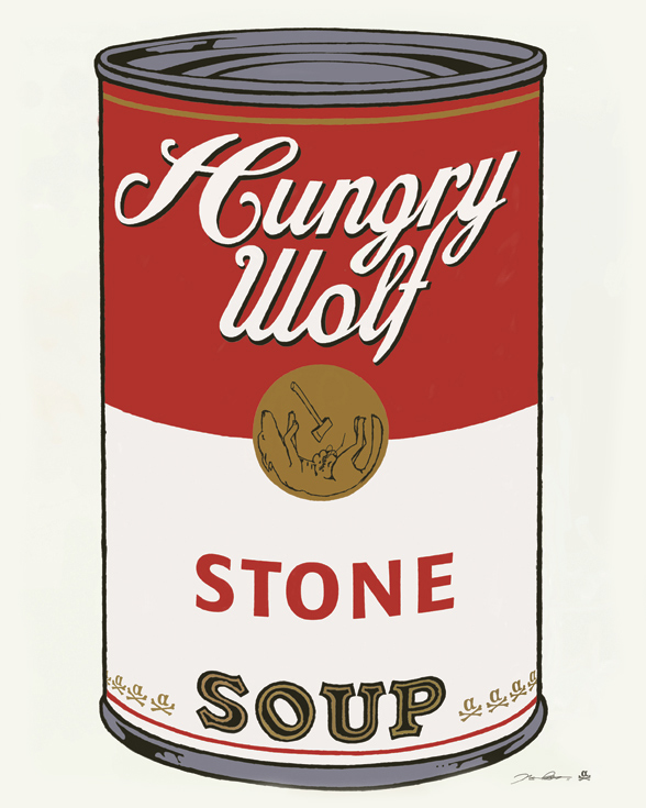 Warhol Campbell's Soup Can parody by thealphastate